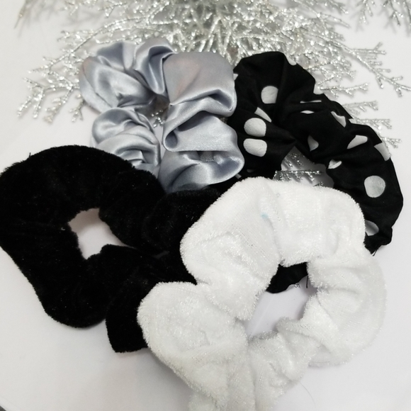 New 3/$20 Set of 4 Scrunchies
